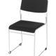 Nice stabelstol - m. polster på sæde+ryg - sort