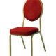 Banquetstol guld med rødt sæde