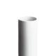 Vase 17 cm. - hvid